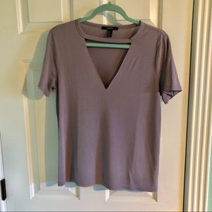 Forever 21 Tops - Keyhole neck T
